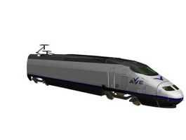 AVE high-speed trains 3d model