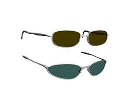 Fashion plastic sunglasses 3d model