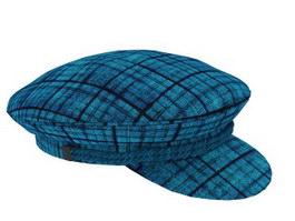 Woman's tweed peaked cap 3d model