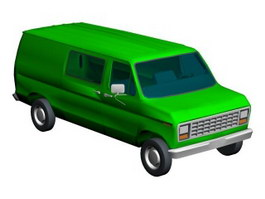 Chevy van 3d model