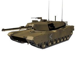 USA M1 Abrams  main battle tank 3d model