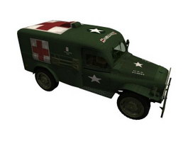 Army field ambulance 3d model
