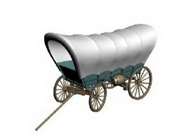 Conestoga Wagon 3d model