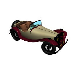 Jaguar SS100 sports car 3d model