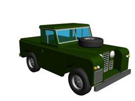 Small pickup 3d model