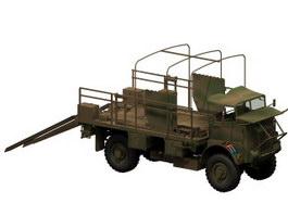 Military transport truck 3d model