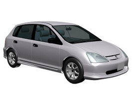 Honda civic lsi 3d model