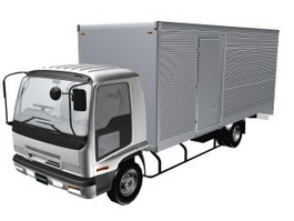 ISUZU FORWARD Insulated van 3d model
