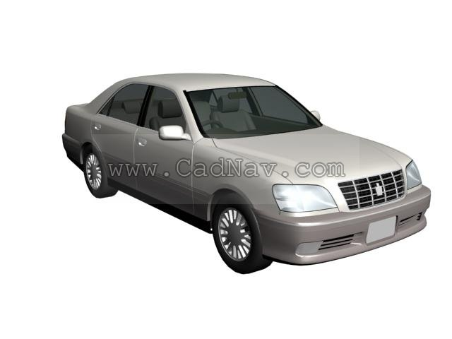 Toyota Crown 3d model 3Ds Max files free download - modeling 1819 on