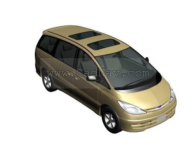 Toyota Estima 3d rendering