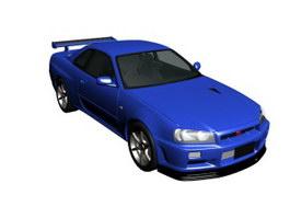 Nissan Skyline GT-R 3d model