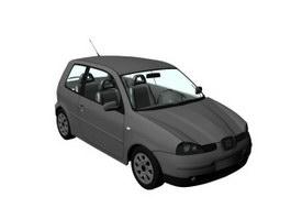 Seat Arosa city car 3d model