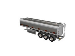 Road tanker trailer 3d model