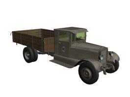ZIS5 military truck 3d model