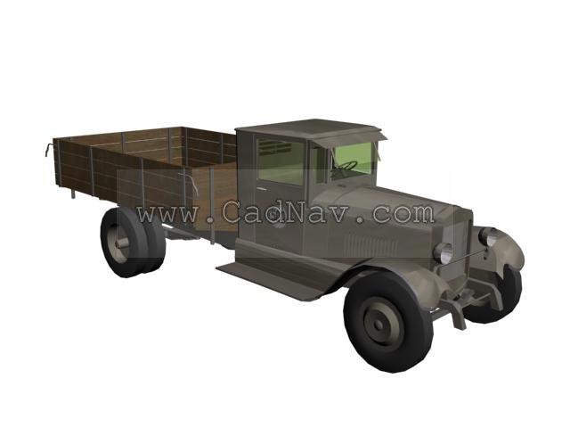 ZIS5 military truck 3d rendering