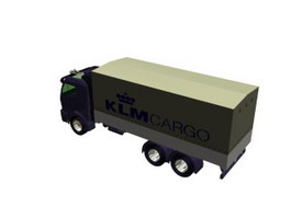 KLM cargo container truck 3d model