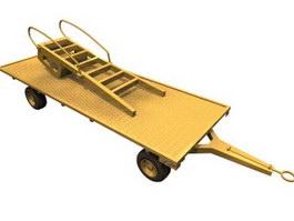 Flat platform trailer 3d model