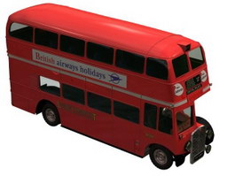 UK AEC Routemaster Bus 3d model