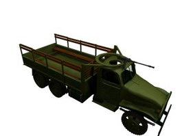Trucks with heavy machine guns 3d model
