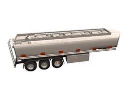 Chemicing liquid tank trailer 3d model