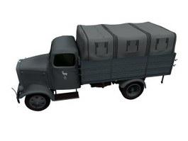 Mercedes Benz Zetros truck 3d model