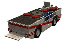 Fire extinguishing agent truck 3d model