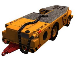 Automobile carrier fire engine tractor 3d model