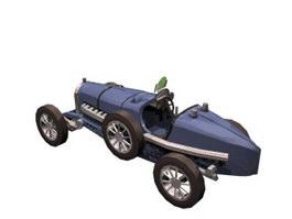 Bugatti Type 35 racing 3d model
