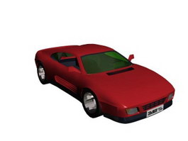 Ferrari 348 spider sportcar 3d model