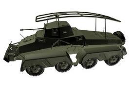 Sd.Kfz 232 Heavy armored reconnaissance vehicle 3d model