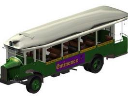 Older minibuses 3d model