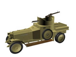 Vehicle-mounted anti-aircraft guns 3d model