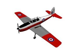 De Havilland Canada DHC-1 Chipmunk Trainer 3d model