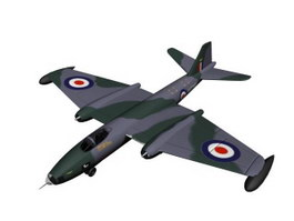 English Electric Canberra B(I) Mk.8 3d model