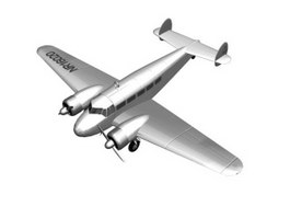 Lockheed Model 10 Electra Light airliner 3d model