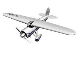 Lockheed Vega transport aircraft 3d model