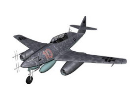 Messerschmitt Me 262 Fighter aircraft 3d model