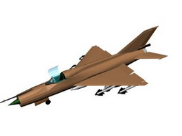 Mikoyan-Gurevich MiG-21 Fishbed Fighter 3d model