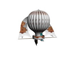 Montgolfier brothers balloon 3d model