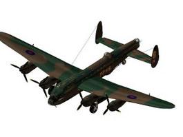 Avro Lancaster PA474 heavy bomber 3d model