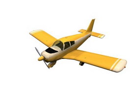 Piper PA-28 Cherokee light aircraft 3d model