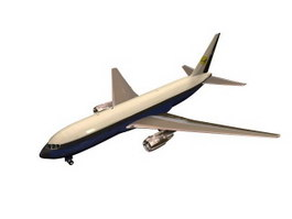 Boeing 767 Wide-body jet airliner 3d model