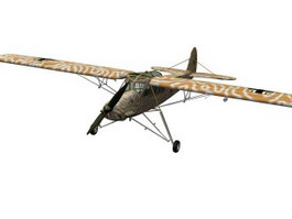Storch Light Aircraft 3d model