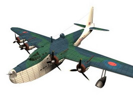 Short Sunderland Military flying boat bomber 3d model