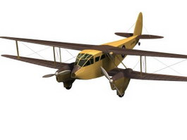 De Havilland DH.89 Dragon Rapide Short-haul airliner 3d model