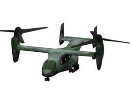 Bell Boeing V-22 Osprey Helicopter 3d model