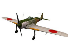 Nakajima Ki-43 Oscar Fighter aircraft 3d model