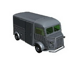 Citroen armoured van 3d model