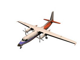 Fokker F27 Friendship Airliner 3d model
