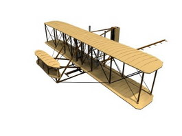 Wright Flyer pioneer airplane 3d model
